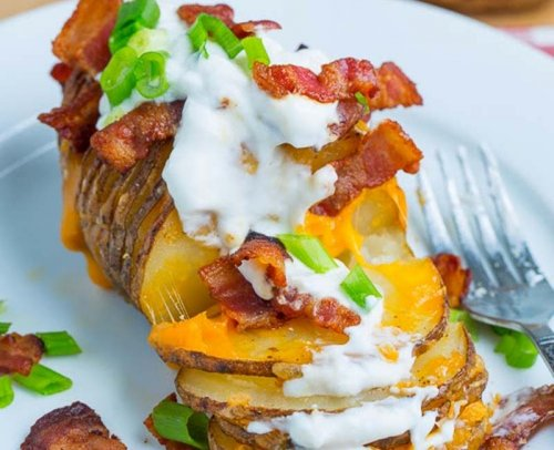 Patatas panadera estilo Hasselback